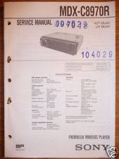 sony mdx c service manual sony mdx c8970r mini disc player original