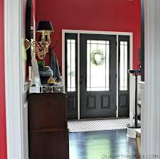 interior front door paint contrast