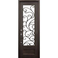 ALLURE IRON DOORS & WINDOWS 40 in.x97.5 in. Islamorada Flat Top ...