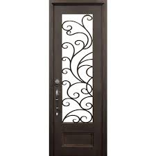 orada flat top left hand classic painted wrought iron single prehung front door hardware included