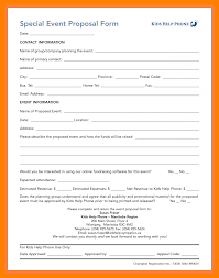 Event Proposal Template Word Sign Up Sheet