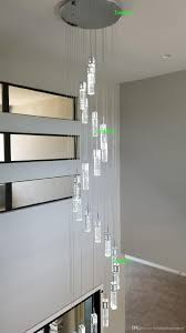 Großhandel Led Kronleuchter Beleuchtung Treppenhaus Doppelspirale Kronleuchter Moderne Kronleuchter Für Wohnzimmer Lange Treppe Kronleuchter Ladde