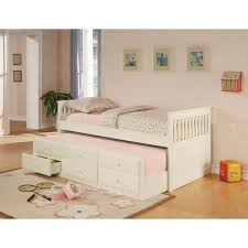 white twin daybed with trundle.  Daybed Coaster Company White Wood Trundle Twin Daybed For With
