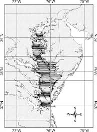 Upper Chesapeake Bay Chart Chart Of Chesapeake Bay Showing The Survey Flight Lines