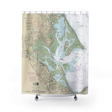 Plymouth Kingston Duxbury Harbors Nautical Chart Shower