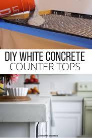 Cement Over Tile Countertops Best 25 Diy Concrete Countertops Ideas On Pinterest Concrete
