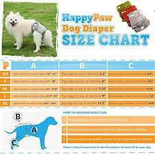 Dog Diaper Size Chart Happypaw Reusable Washable Dog Diapers Size Large 3
