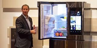 samsung tv refrigerator. samsung family hub refrigerator first impressions review - reviewed.com refrigerators tv c