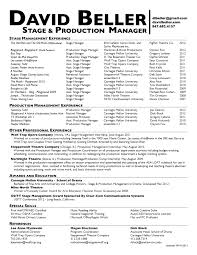 Theatrical Director Resume Cover Letter Theatrical Director Resume Theatre Manager Resume 19