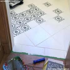 how to paint bathroom tile floor old bathroom floor tiles with stencils from royal design studio how to paint bathroom tile floor