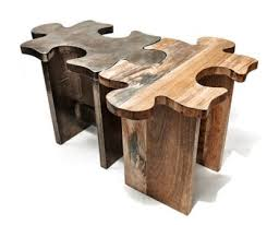 Unique Wood Coffee Tables | Unique Wooden Coffee Table Or Stool  Jigsaw  Puzzle $495 Each