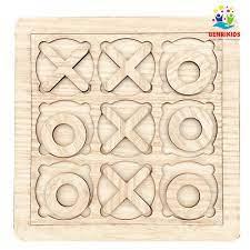 Game Tic-Tac-Toe Phiên Bản Bằng Gỗ Thuần Mộc Đẹp Xịn Sò Cho Bé Từ 2-4 Tuổi(  20x20cm) tại Hà Nội