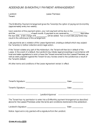 In implementing a business contract template and service contract template, a payment contract is mostly evident. Bi Weekly Payment Arrangement Ezlandlordforms