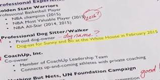Fake Resumes Cool Stephen Curry's Fake White House Résumé Business Insider