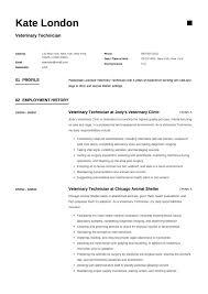 Veterinary Resumes Veterinary Technician Resume Guide Samples Resumeviking Com