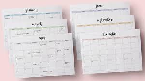 calendar 2018 free printable s studyblr