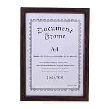 Flameer A4 <b>Wooden Document</b> Frame for Vertically or Horizontally ...