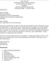 Language Interpreter Cover Letter Sign Language Interpreter Cover Inspiration Interpreter Resume