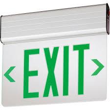 Lithonia Lighting Exit Signs Lithonia Lighting Edg Aluminum Led Emergency Exit Sign Edg 2