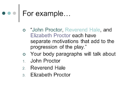 cqc claim quote commentary ppt video online  john proctor reverend hale and elizabeth proctor each have separate motivations