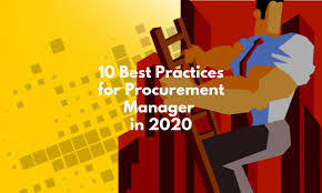 10 Best Practices for Procurement Manager in 2020