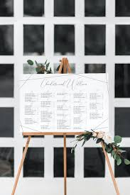 Modern Wedding Seating Chart Modern Calligraphy Seating Chart Dearlc
