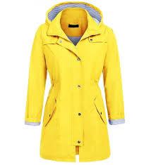 unibelle waterproof front zip lightweight raincoat