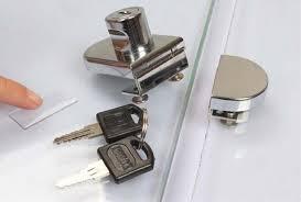 glass display cabinet locks zinc alloy
