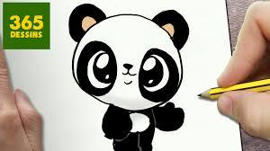Comment Dessiner Panda Kawaii Tape Par Tape Dessins Kawaii