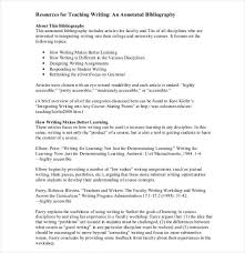 Annotated Bibliography Template Download Writing Format Of Teaching Annotated Bibliography