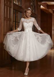 Zyjdress Lace Short Tea Length Wedding Dress Bridal Gowns At