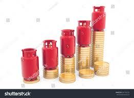 Economical Lpg Gas Price Chart3d Render Business Finance