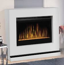 wall mounted electric fireplace with glass embers