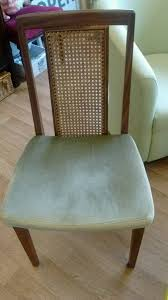 pair of vine bergere cane back chairs g plan with green seat c1970s