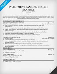 investment banking resume sample investment banking resume example