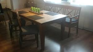 Esstisch Bank Und 3 Stühle Massiv Holz In 68789 Sankt Leon Rot Für