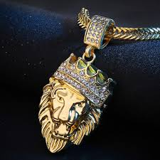 product information home men men s jewelry men s necklaces men s lion