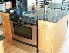 slide in range in island. Simple Slide Kitchen Area Has A Top Of The Line JENNAIR STOVE But One I Want  Cartriges To Swap Out Cooking Surfaces With Slide In Range Island T