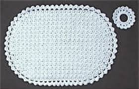 Free Crochet Placemat Patterns Fascinating Ravelry Oval Placemat Set Pattern By Priscilla Hewitt