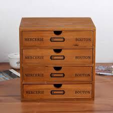 Деревянный ящик для хранения 4-слойный ящик стол ретро ...