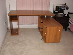 diy office desk. Furniture Brown Polished Wooden L Shaped Desk With Storage And. Home Plan Design. Accounting Office Diy