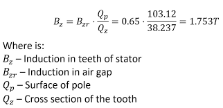 rewinding 3 phase motor 54 steps pictures picture of calculation of the induction in the teeth of the stator