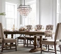 gemma crystal round chandelier pottery barn in dining room ideas 16