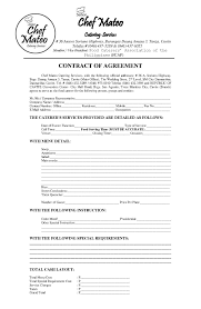 Catering Agreement Download Catering Contract Style 5 Template For Free At