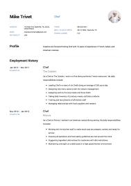 Chef Resume Samples Resumeviking Com