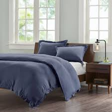 details about ink ivy cotton jersey knit heathered duvet cover mini set