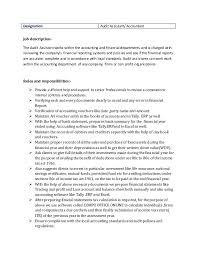 3 designation audit assistant accountant job description - Assistant  Accountant Job Description