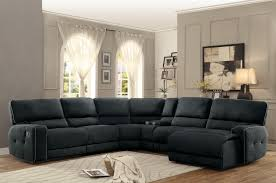 homelegance set keamey dark grey fabric oversized reclining