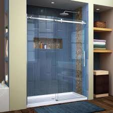 enigma air 56 in to 60 in x 76 in frameless sliding shower