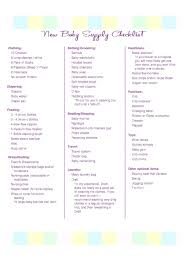 New Baby Checklist Printable Dressie Co